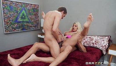 Triplet porn video featuring Xander Corvus, Ricky Johnson and Bridgette B