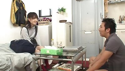 Beautiful repetitious chested oriental youthful gripe got orgasm by fingering