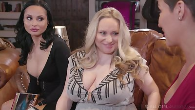 Three hot MILFs aren't shy about what they want and they want tribadic sex