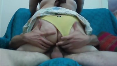 Homemade Vintage Sex Tape With Short Skirt & Pantihose Pulled To The Side