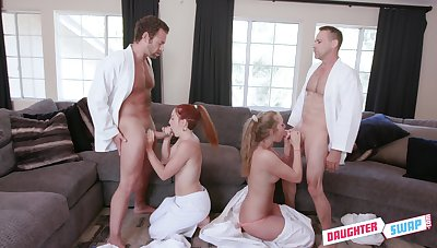 These babes swap their partner in a verifiable foursome