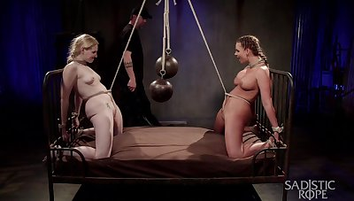 Submissive whores leave their master down dominate their asses