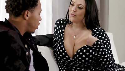 Deadly stepson can't repel fucking impressive big white boobs of Angela White
