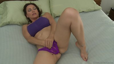 Nicole Moore masturbates coupled with hot Elle Alexandra joins her