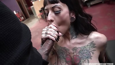 Caught coupled with fucked missionary fast tattooed bitch named Jessie Lee