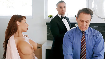 Horny serving-wench is ready forth anal fuck housewife