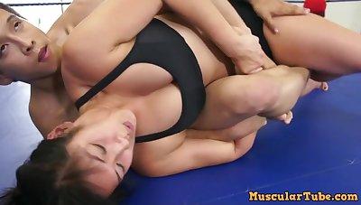 Mixed Wrestling With Stunning Asian Babe Mia Li