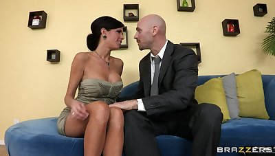 Mature mommy Veronica Avluv more fake tits fucked beyond everything the couch