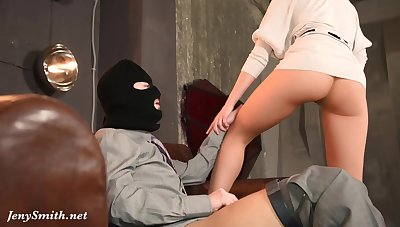 Skinny Unreserved Playing With Masked Man