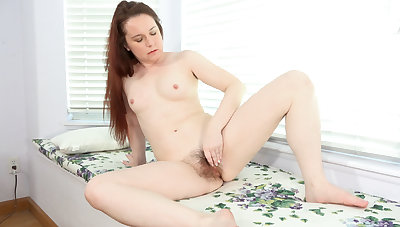 Annabelle Lee masturbates with a glass dildo - Compilation - WeAreHairy