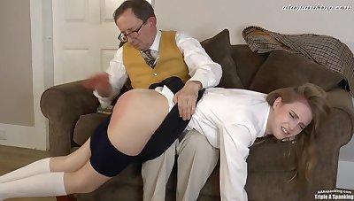 Headmaster's Daughter Spanked - Amateur Dealings