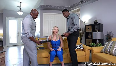 Black dudes fucks horny wife in such a way that she reaches multiple orgasms