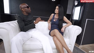 Black dude makes sure forth gag her before destroying her cunt