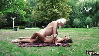 70 yr senior granddad pulverizes legitimate yr elder female wails and aroused
