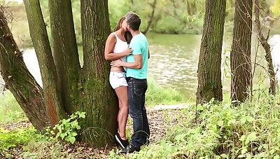 Gentle fucking in the local homeland with natural knockers Naomi Bennet